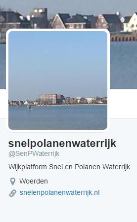 Wijkplatform Snel en Polanen Waterrijk nu ook op Twitter