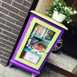 Gratis kinderboeken te leen, leuk initiatief van Juf Margot