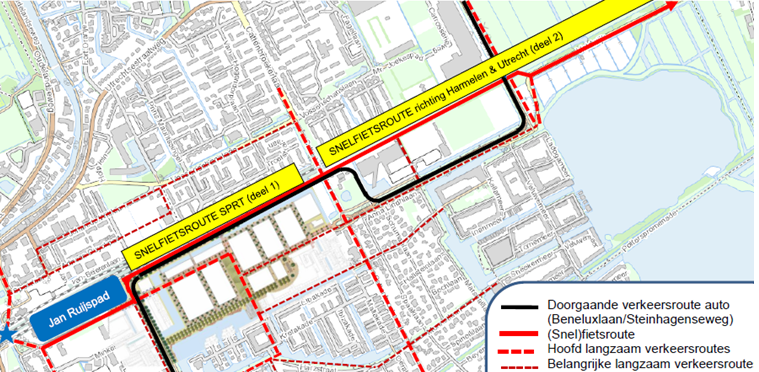 Gemeente wil grond aankopen voor doortrekken fietspad langs het spoor